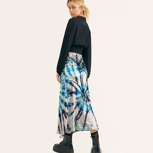 NWT Free People Bali Serious Swagger Tie Dye Skirt